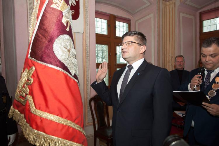 Krzysztof Rąkowski składa ślubowanie