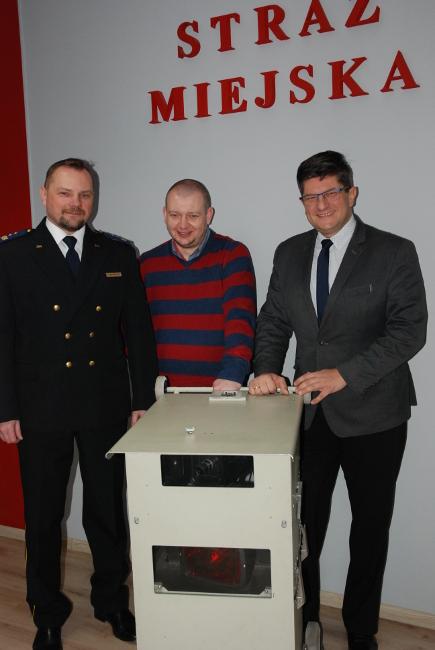 Tomasz Makrocki, Dariusz Kamieniak, Grzegorz Mackiewiczi i fotoradar