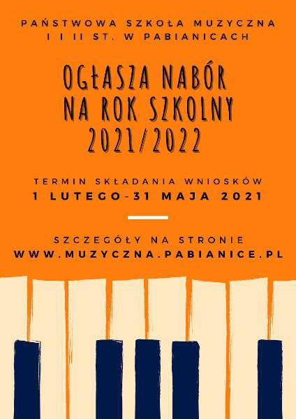 plakat informacyjny na pomarańczowym tle