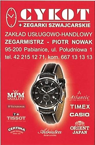 logo firmy Cykot zegarmistrz Piotr Nowak