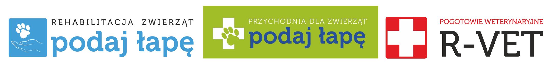 logo firmy Przychodnia dla Zwierząt Podaj Łapę