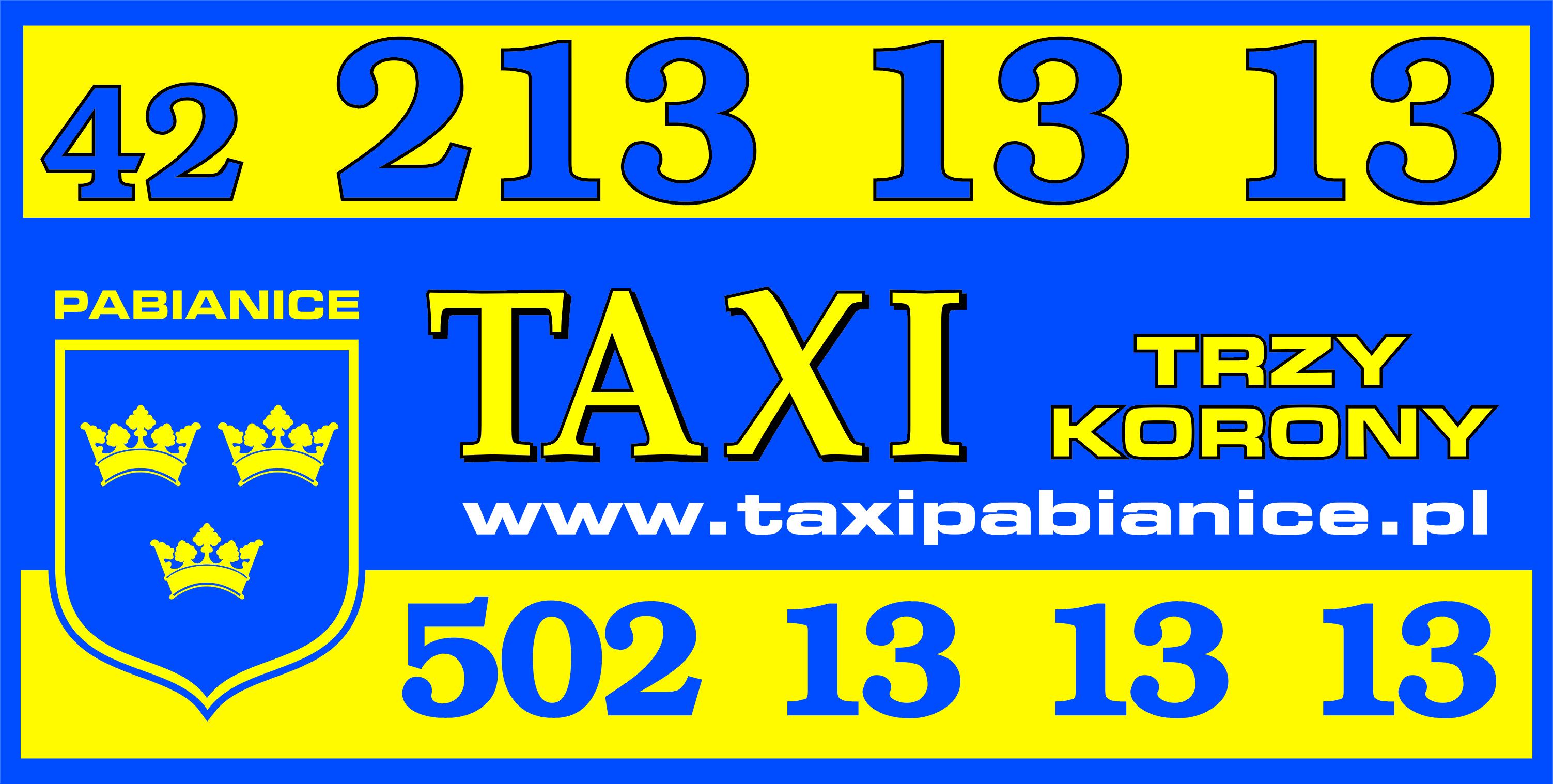 logo Pabianickiego Stowarzyszenia Taksówkarzy Trzy korony