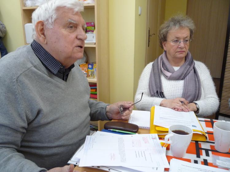 Przewodnicząca Grażyna Nowak i Zastępca Przewodniczącej Stanisław Sobczyk