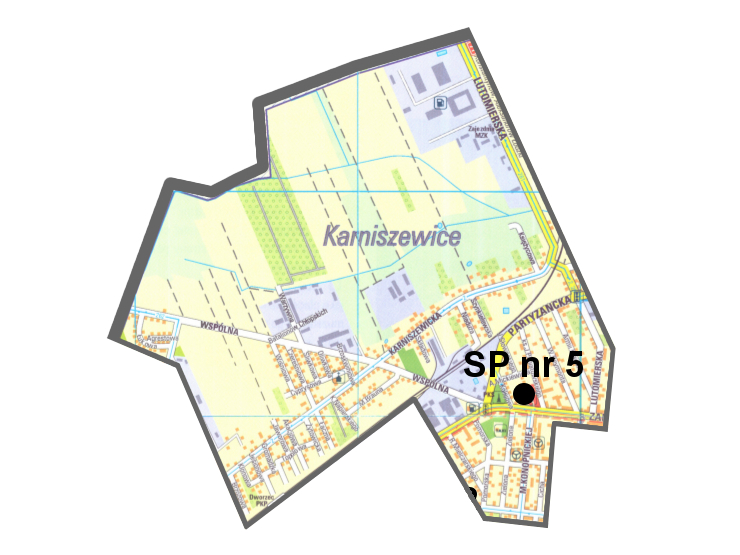 plan obwodu Szkoły Podstawowej nr 5