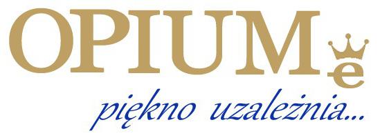 logotyp Opiume piękno uzależnia