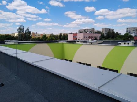 dach przedszkola po termomodernizacji