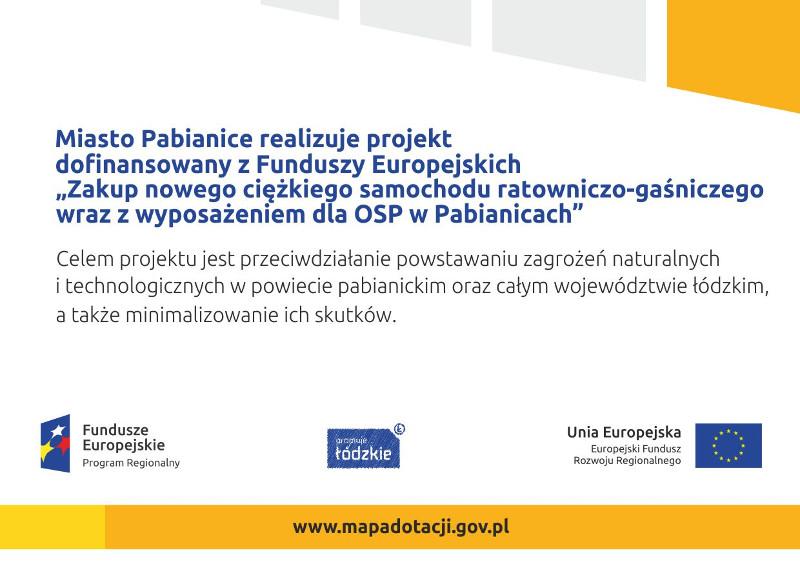 Celem projektu jest przeciwdziałanie powstawaniu zagrożeń naturalnych i technologicznych w powiecie pabianickim oraz całym województwie łódzkim, a także minimalizowanie ich skutków.