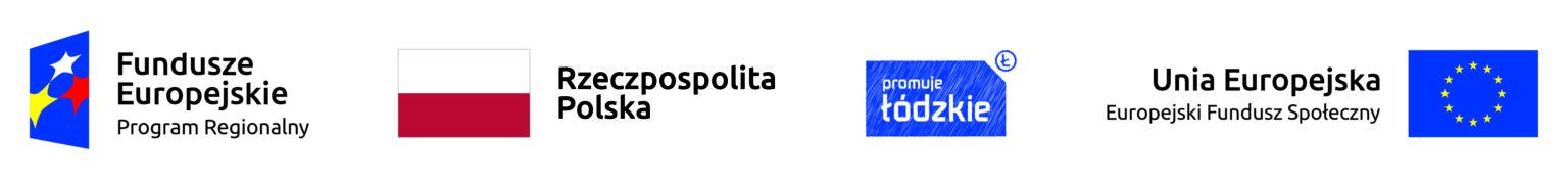 loga Fundusze Europejskie Program Regionalny, Rzeczpospolita Polska, promuje łódzkie, Unia Europejska Europejski Fundusz Społeczny